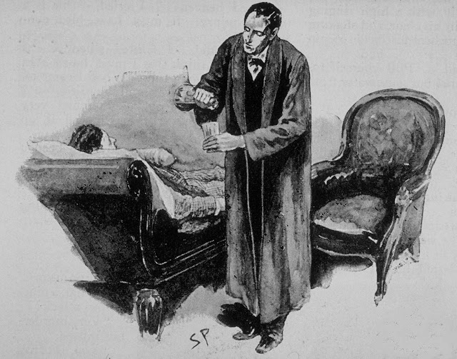A glass of warm water, Watson's hand, and by morning it will be 'The Mystery of the Wet Trousers.'
