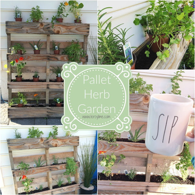 Pallet Herb Garden - DIY - Outdoor Spaces - LeroyLime