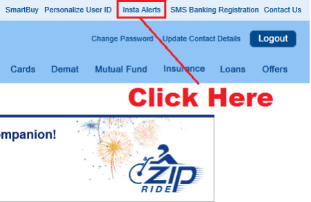 how to deactivate sms alert in hdfc bank