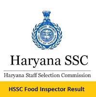 HSSC Food Inspector Result