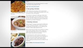 Rendang Masakan Terenak Di Dunia, Nasi Goreng Makanan Terenak Kedua Di Dunia, Sate Masakan dan Makanan Terenak Di Dunia Urutan 14 hasil survey CNN Travel