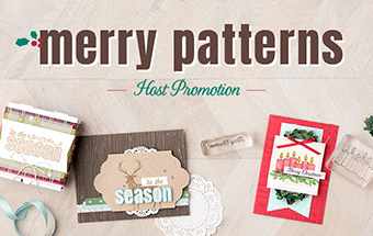 Merry Pattern Stampin'Up! stamp promotion