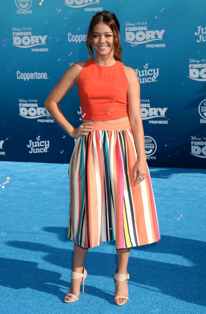 Sarah Hyland wears chic skirt for 'Finding Dory' premiere in Hollywood