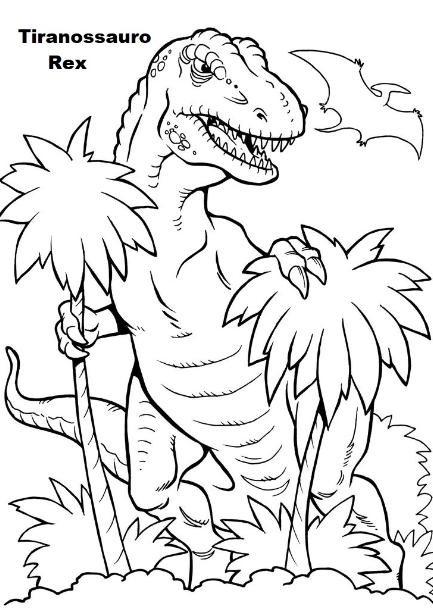 Blog De Geografia Tiranossauro Rex Desenho Para Imprimir E Colorir