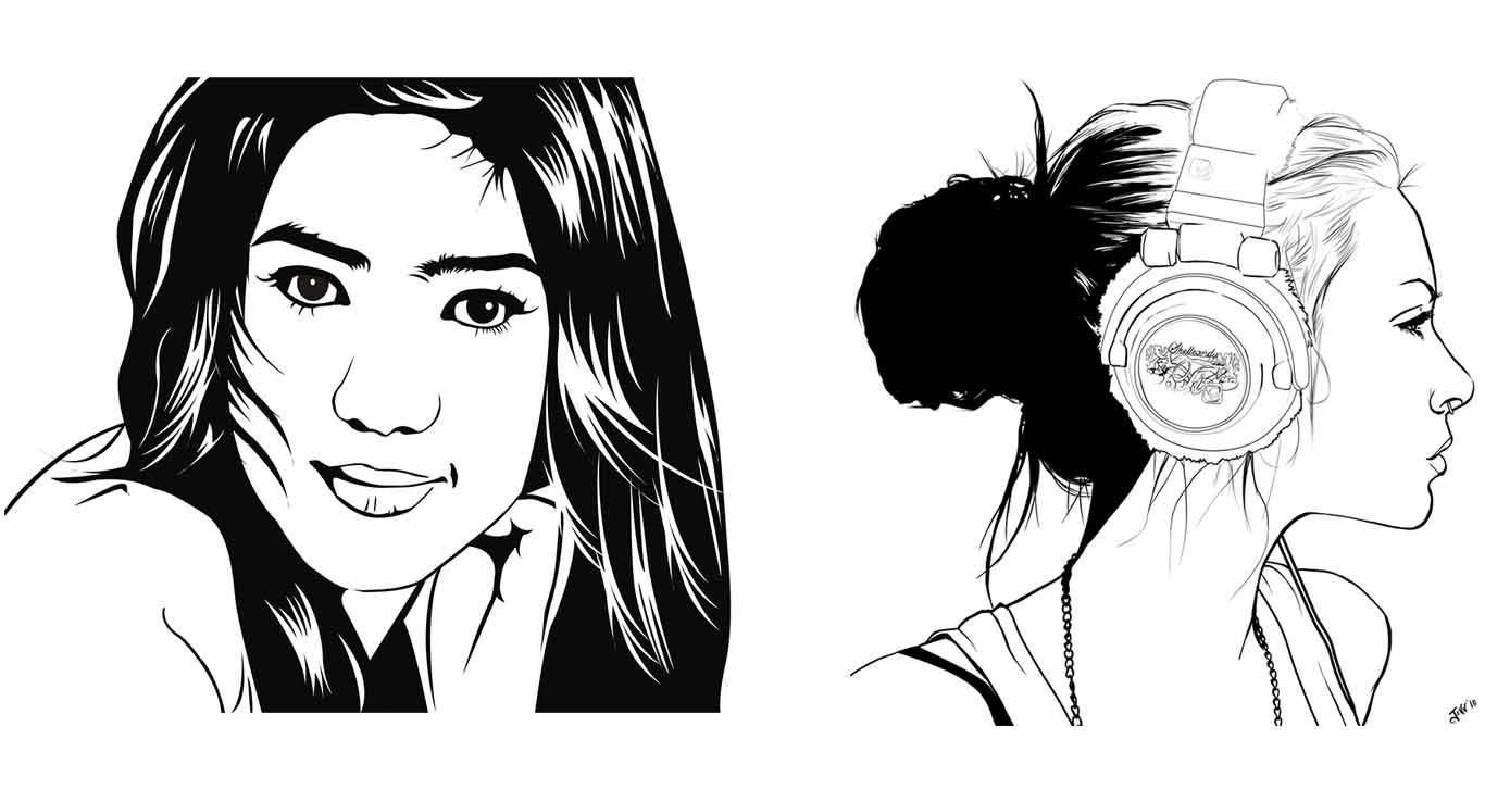 Line Art Wajah : Macam jenis vektor dan vexel art grafisarena