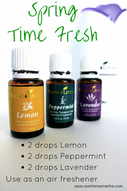 All Natural Chemical Free Air Freshener with Young Living Essential Oils
