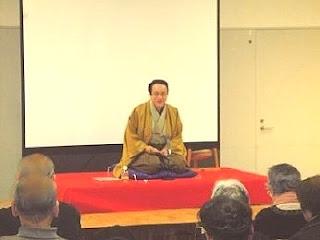三遊亭楽春の健康落語講演会、笑いは健康の良薬の風景