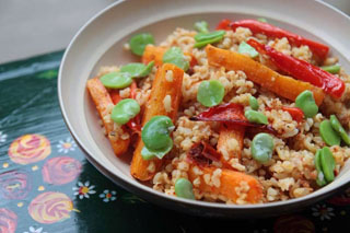 Chilli Coconut Bulgur Wheat Salad