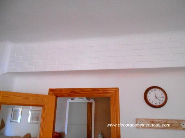 diy parede de tijolinhos de isopor
