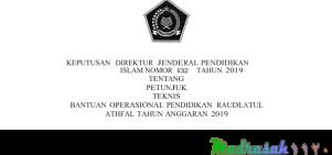 Juknis Bantuan Operasional Pendidikan ( BOP ) RA Tahun 2019