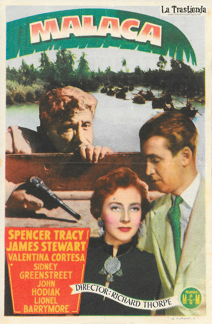 Malaca - Programa de Cine - Spencer Tracy - James Stewart - Valentina Cortesa