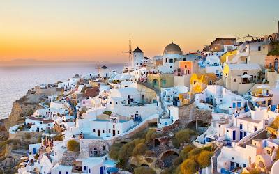 La isla de Santorini en Grecia