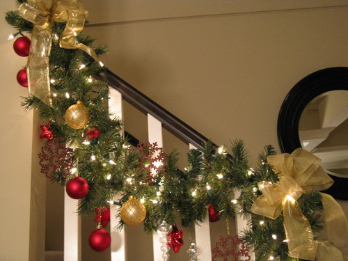 Inspirational letters by millie 20 days of holiday - Christmas decorations for stair rail ...