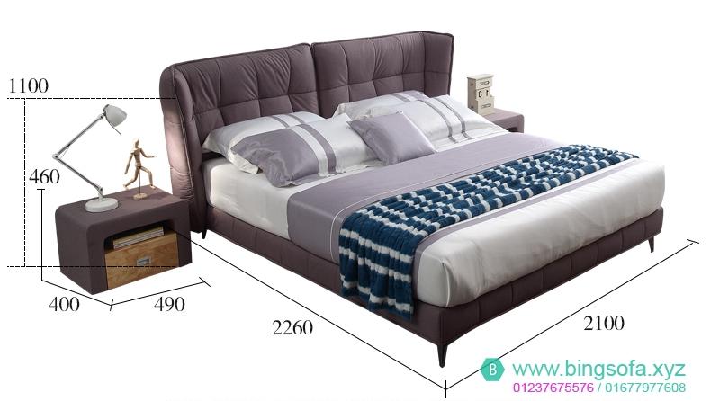Mẫu giường ngủ bọc vải cao cấp GN19