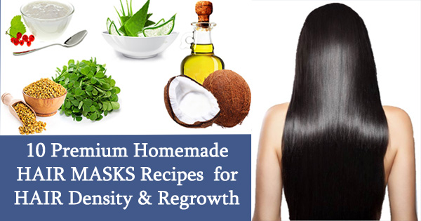 10 Premium Homemade HAIR MASKS Recipes for HAIR Density & Regrowth