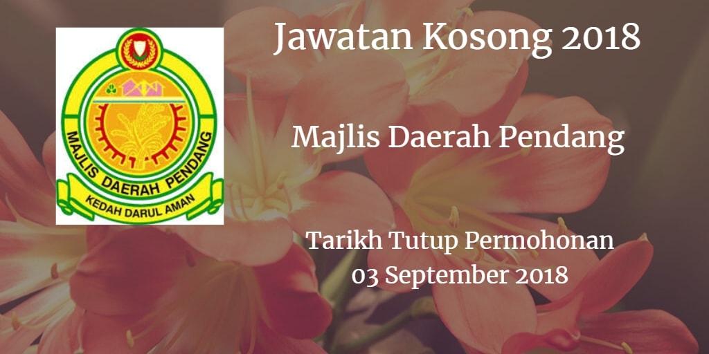 Jawatan Kosong MDP 03 September 2018