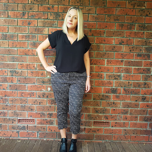 Rivers cropped pattern pants | Almost Posh
