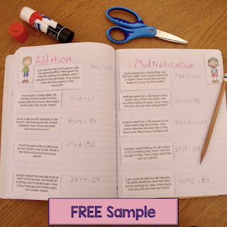 Use these FREE word problem sorts to let students show whether to multiply or divide to solve the problem. These are great for interactive notebooks or math centers.