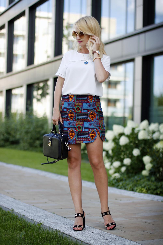 Etno Print Skirt