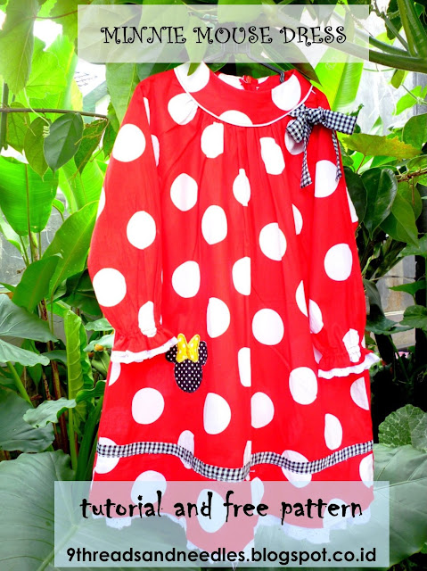 diy minnie mouse dress - dress for kids