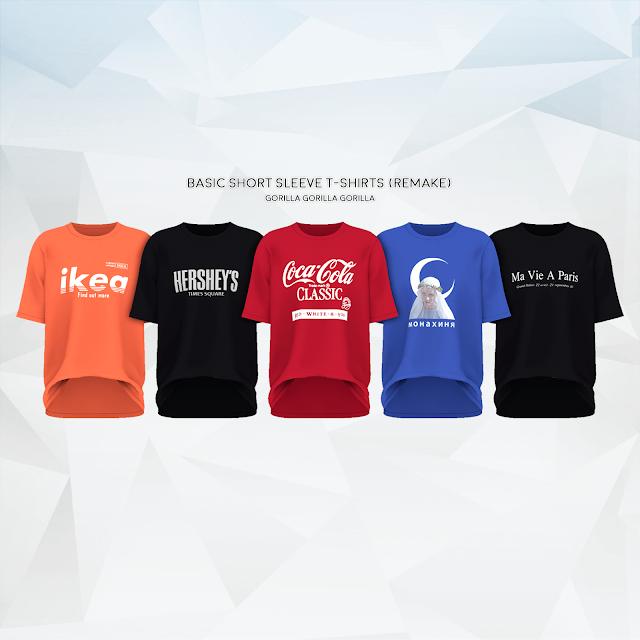Camisetas de manga curta básica (Remake) by GORILA X3