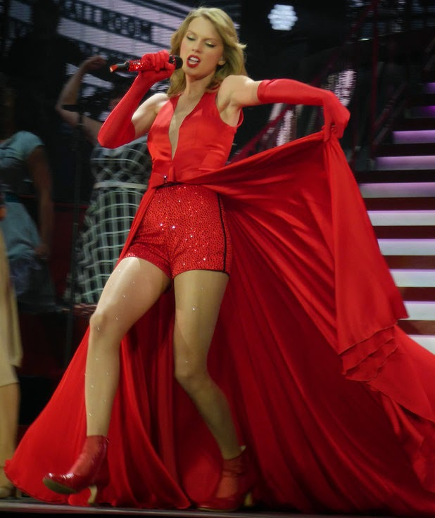 Taylor Swift during the UK leg of her 2014 tour