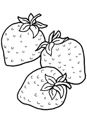 Gambar Mewarnai Buah Strawberry - 7