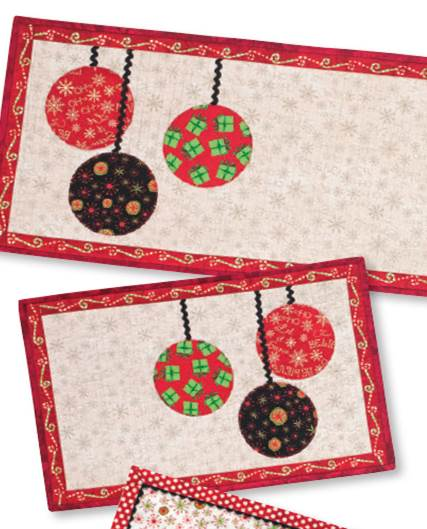 Christmas Tree Table Runner Quilt Pattern: Quilt Inspiration: Free Pattern Day: Christmas Table Runners