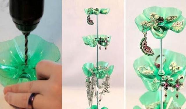 cara membuat kerajinan tangan dari botol bekas - bros
