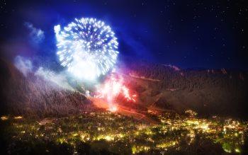 Wallpaper: Aspen Fireworks