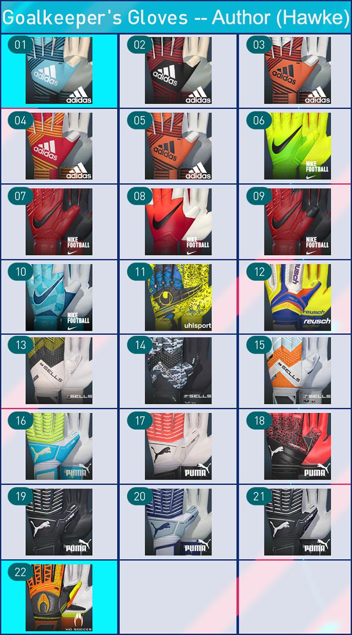 PES 2018 Glove Pack Vol:1 by Hawke