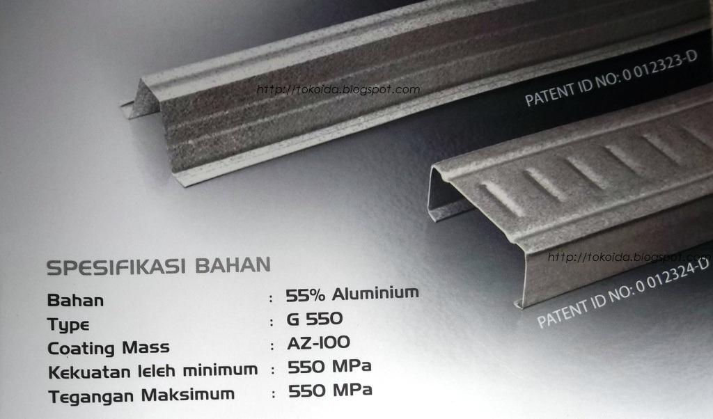 baja ringan g550 jasa kontruksi rangka atap sni bergaransi dan genteng