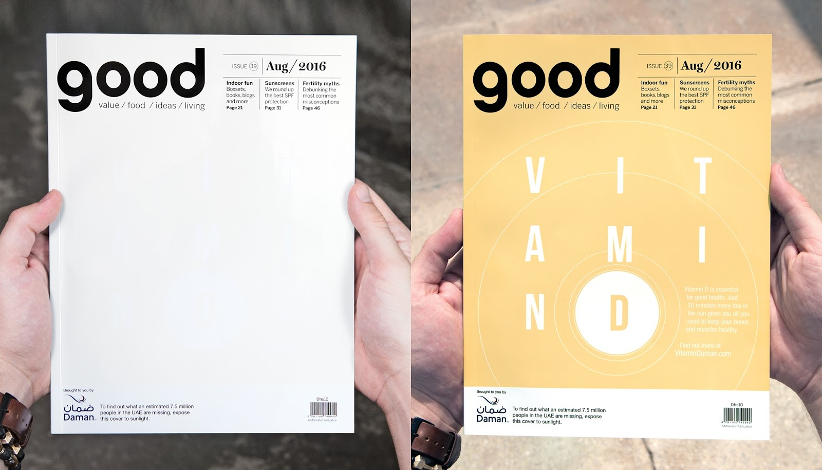 e4ce17aae Daman's AdD - A Print Ad that gave people in the UAE some much needed  Vitamin