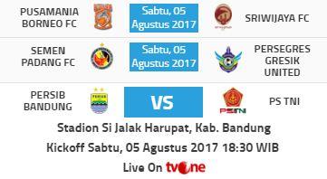 Jadwal Liga 1 Sabtu 5 Agustus 2017 - Siaran Langsung tvOne