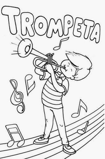 Dibujos Para Colorear Maestra De Infantil Y Primaria Instrumentos