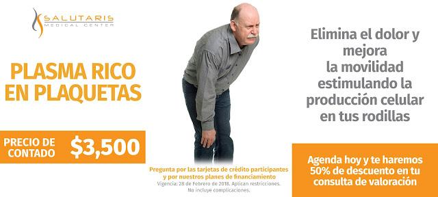 Precio Tratamiento Plasma Rico en Plaquetas Rodilla Guadalajara