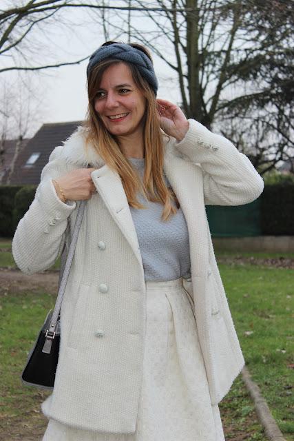 Défi look porter du beige, bandeau, look du jour, les petites bulles de ma vie