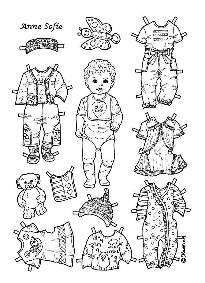 Karen`s Paper Dolls: Anne Sofie 1-2 Baby Paper Doll to