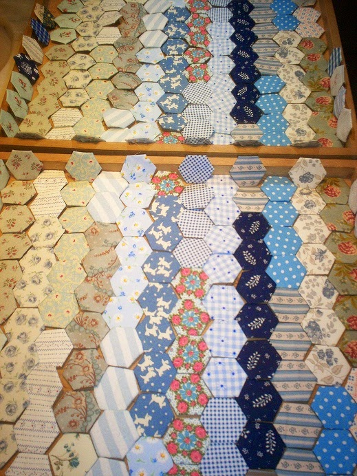 hexagonnetjes voor English paper piecing
