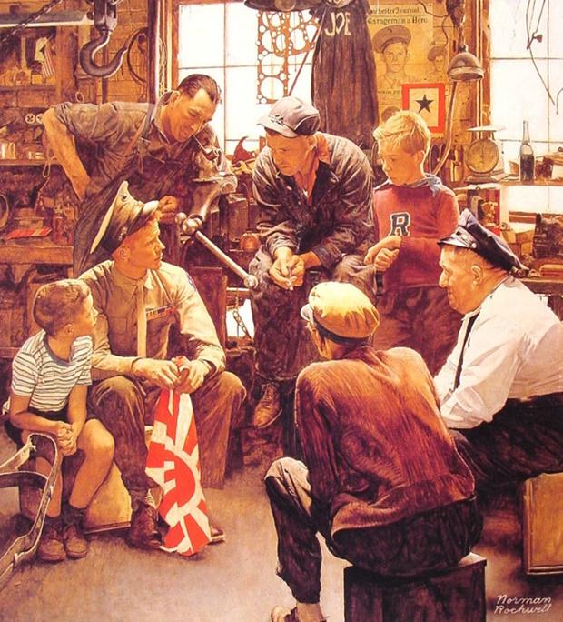 Portfólio vintage, Norman Rockwell, o estilo de Norman Rockwell, quem foi Norman Rockwell, Norman Rockwell obras, Norman Rockwell drawings, about Norman Rockwell, história de Norman Rockwell, biografia de Norman Rockwell, ilustrações vintage, pintura vintage