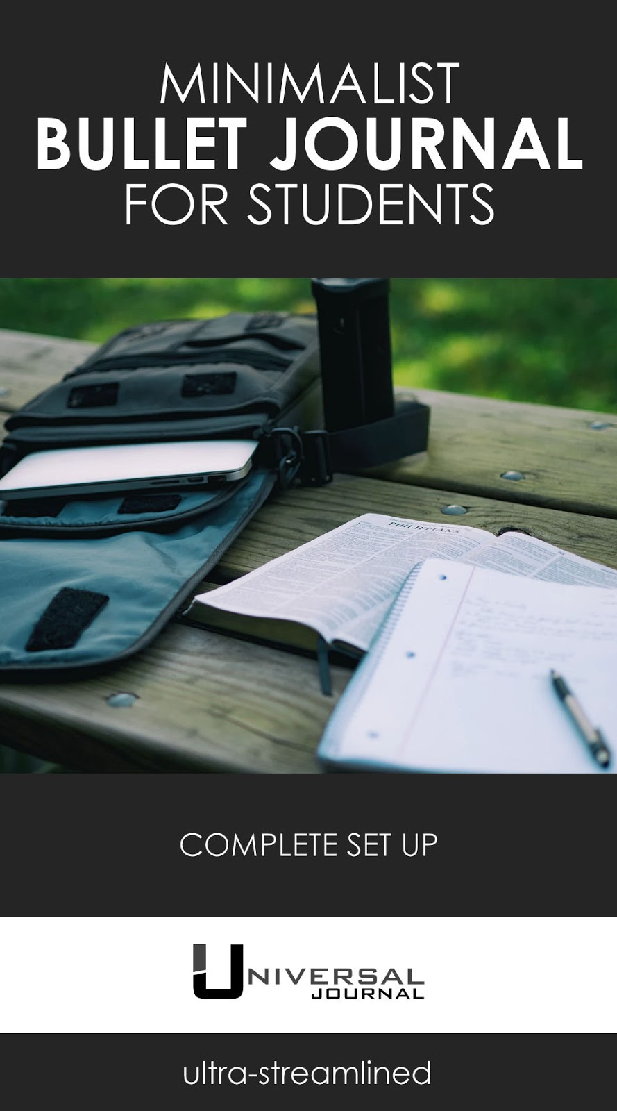minimalist bullet journal for students school