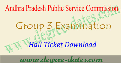 APPSC group 3 hall tickets 2017 ap panchayat secretary exam