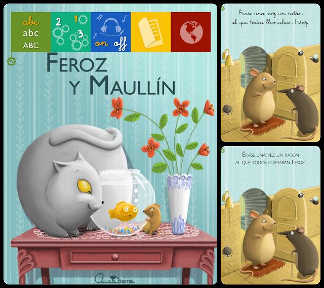 Imágenes de la aplicación para niños de Feroz y Maullín