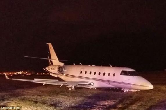 Photo: Footballer Cristiano Ronaldo's £15million private jet crashes in Barcelona