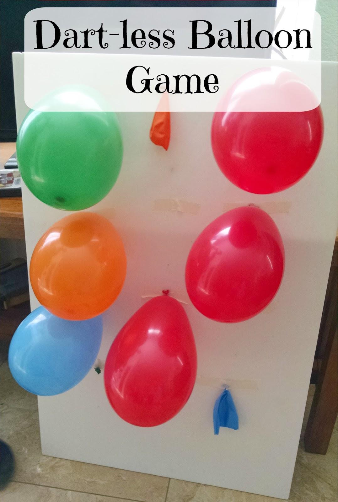 Through my front window dartless balloon game for Balloon party games