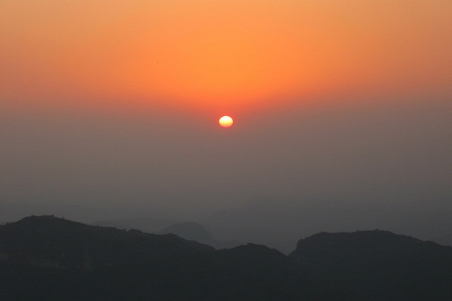 Sunset Point at Pachmarhi
