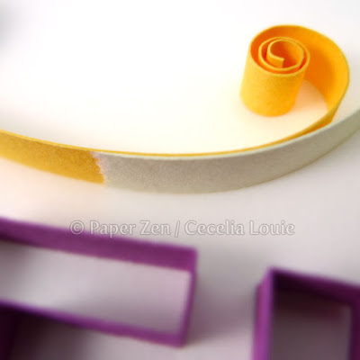 tearing vs cutting quilling paper ends