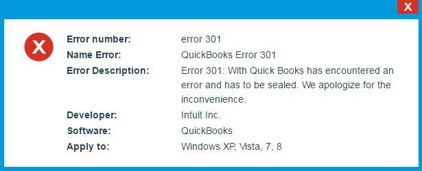 how to fix 301 error