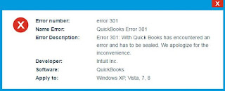 Intuit QuickBooks Error Code 301 Resolve Support ☎ 1844-551-9757