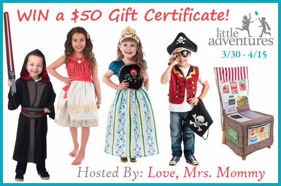 $50 Gift Certificate to Little Adventures Giveaway